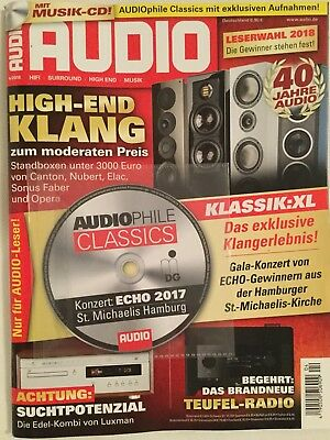 AUDIO 4/2018 + CD AUDIOPhile Classics Konzert ECHO 2017 St. Michaelis Hamburg