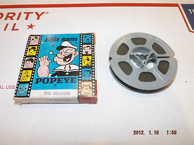 "POPEYE 50' SUPER 8mm Vintage Home Movie Film kiddie movies ATLAS ""The Bruiser"""
