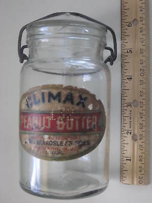 Newark, N.J.-- Early Climax Peanut Butter Jar With Groved Toggle Closure
