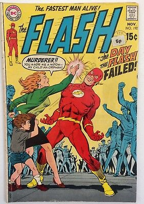 Flash #192 The Day Flash Failed. Grade 6.0. DC.