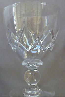 Stuart Crystal Water Goblet, Criss Cross Cut With Ball Stem