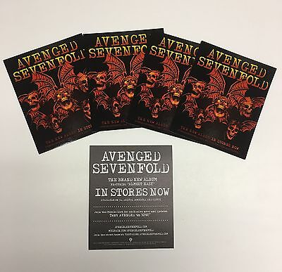 AVENGED SEVENFOLD Synyster Gates/M.Shadows 4 PROMO STICKERS for 2007 cd ALL MINT