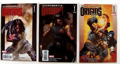 Ultimate Origins #1 Dell'Otto Bianchi and WW Chicago Variant Covers Lot of 3
