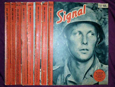 Signal magazines, German edition (D), eight issues from 1942