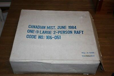 Very Rare CANADIAN MIST Advertising 2 Person Raft 1984 Never Used Sealed
