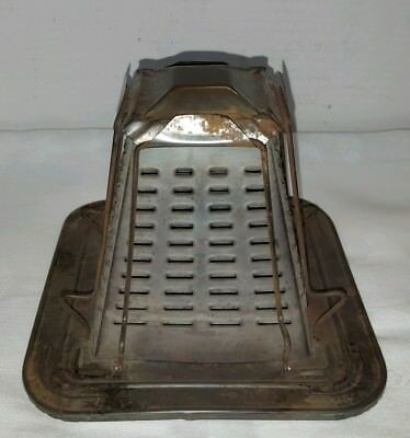 Vintage Antique Tin Stove Top Toaster 4 Slice