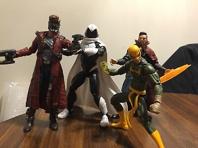 Marvel Legends Lot Of 4 Loose Figures Moon Knight Iron Fist Star Lord Dr Strange