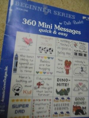 360 Mini Messages. Embroidery Book. #Sunday Market.  48 pages