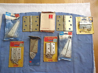 """Vintage Lot Of 7 """" NOS """" Packages Of Various Hinges """" AWESOME COLLECTABLE LOT """""""