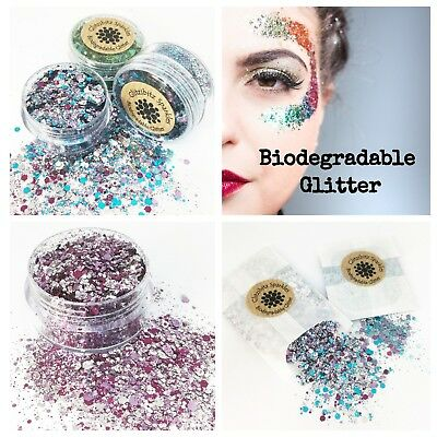 Biodegradable Cosmetic Glitter chunky mix Festival Party make up face eco body
