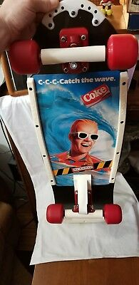 "Vintage 1980's MAX HEADROOM SKATEBOARD Coke ""C-C-C Catch the wave"" VARIFLEX NOS"