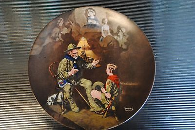 """""""The Old Scout"""" by Norman Rockwell  Collector Plate 8.5"""""""