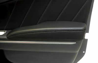 Dodge Charger Door Armrest Cover Synthetic Leather Black Stitch For 11-18