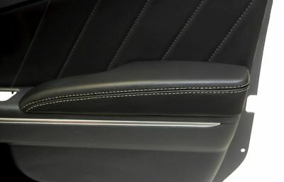 Dodge Charger Door Armrest Cover Synthetic Leather Beige Stitch For 11-18