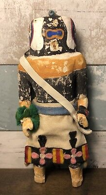 Antique Vintage Wooden Hand Carved Hand Painted Folk Art Native American