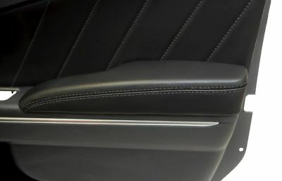 Dodge Charger Door Armrest Cover Synthetic Leather Gray Stitch For 11-18