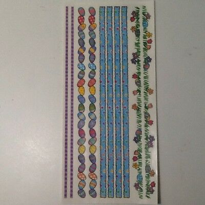 """Easter Eggs Dots Flowers 12"""" Borders SCRAPBOOKING Stickers by Me & My Big Ideas"""