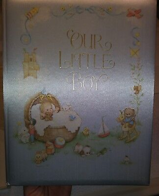 """Hallmark """"Our Little Boy"""" baby album vintage early 1980's.  Box and book cover"""