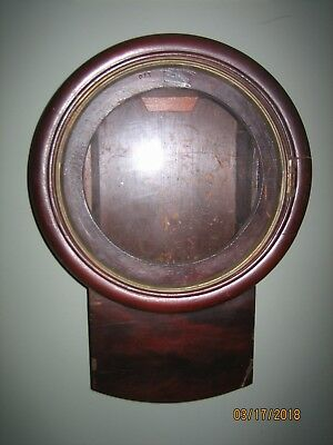 Antique English Fusee Wall Clock Case Only