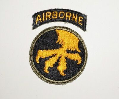 17th Airborne Division Patch With Tab WWII US Army P6309