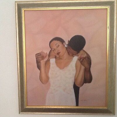 Sexy AFRICAN AMERICAN WOMAN ART JUNE MARIE BLACK LADY Illumination Love