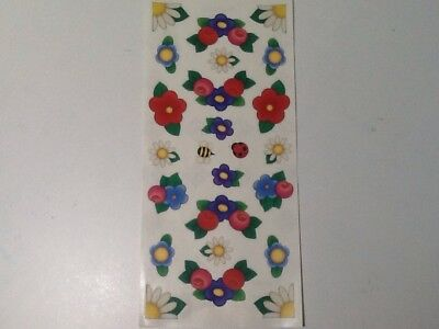 "Roses Daisies Bees  SCRAPBOOKING Stickers by Me & My Big Ideas 12"" sheet"