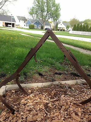 Antique Hay Baler Fork Primitive FARM Cast Iron INDUSTRIAL CHICAGO LOCAL