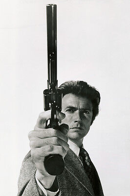 VINTAGE CLINT EASTWOOD DIRTY HARRY 44 MAGNUM POSTER PRINT 36x24