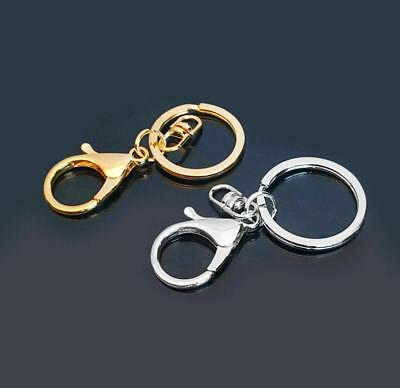 5 Pcs Lobster Clasp Keyring Key Ring Keychain With Split Ring Accessory Set