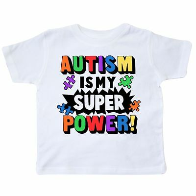 Inktastic Autism Is My Super Power With Puzzle Pieces Toddler T-Shirt Awareness