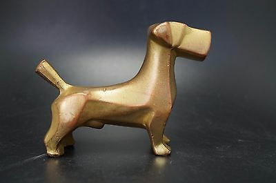 VTG Metal SEALYHAM TERRIER Dog Art Deco Faux Bronze
