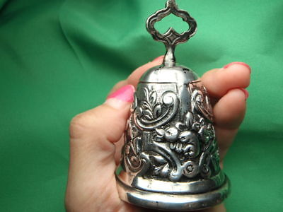 Antique Sterling Silver .925 TEA DINNER SERVICE BELL 75.8 Grams 2.43 Troy Ounces