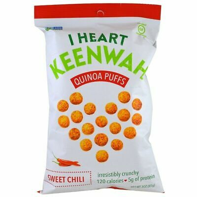 I Heart Keenwah - Quinoa Puffs - Aged Cheddar 85 g - GLUTEN FREE HEALTHY SNACKS