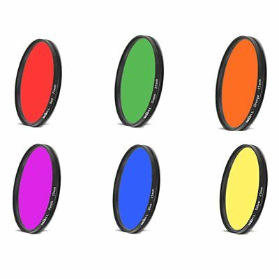 67mm Full Color Lens Filter For camera accessories Red Orange Yellow Purple Blue