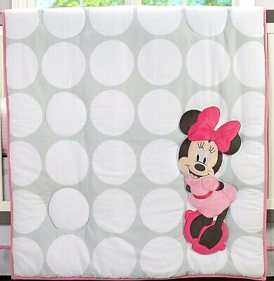 Minnie Mouse Polka Dots Applique Comforter by Disney Baby