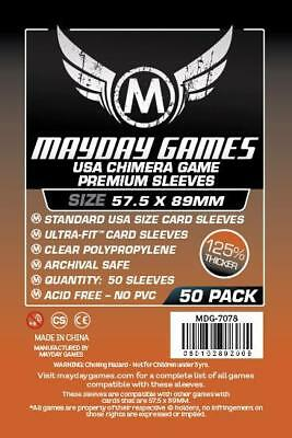 500 Mayday Premium Chimera 57.5 x 89 Board Game Sleeves - 10 Packs 7078 - Bretts