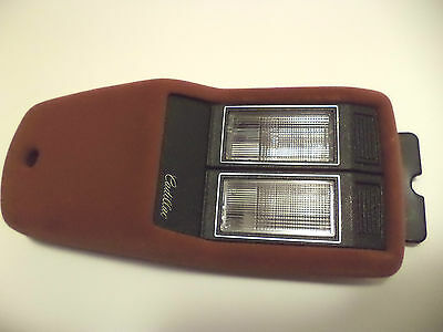1989-1993 Cadillac Sedan Deville Front Interior Roof Courtesy Lights Brown
