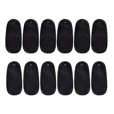 12 Pieces Eye Patches Black Eye Patch for Glasses for Lazy Eye Amblyopia