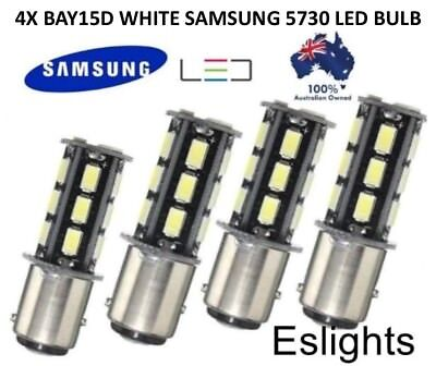 4X Bay15D 18 Samsung Led 1157 Dual Filament Brake Stop Tail Light Bulbs Globe