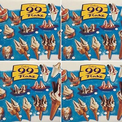 4x ICE CREAM STICKERS SOFT FLAKE TWIN CONE SCREWBALL TRAILER CAFE Job lot Bundle