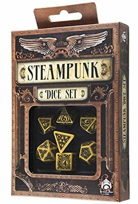 Q-Workshop Steampunk Yellow & black Dice Set (7)