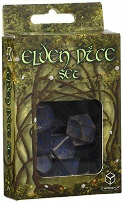 Q-Workshop Elvish Translucent & blue Dice Set (7)