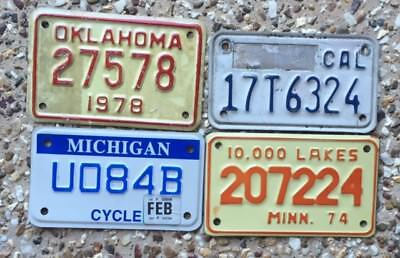 4 More Motor Cycle Number Plates From Different American States
