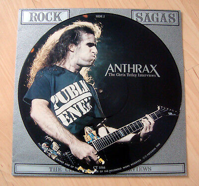 Anthrax - Picture Disc Interview LP Vinyl - Rock Sagas 1988 - Fotodisk - Sehr RA