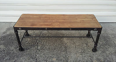 Superb coffee table industrial metal and wood