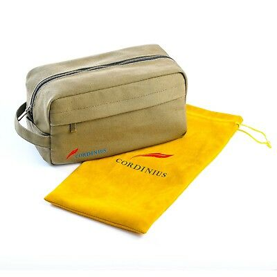 Top Quality Canvas Travel Toiletry Bag for Men Shaving Dopp Kit Army Green Gift