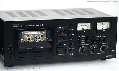 SANSUI SC-5110 Vintage High-End Cassette Tape Deck TOP!! Revidiert+1J.Garantie!!