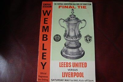 1965 Leeds United V Liverpool Fa Cup Final