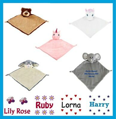 Personalised Baby Boy Girl Comforter Blanket Any Name Embroidered Gifts Cubbies