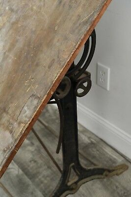 vintage cast iron drafting table